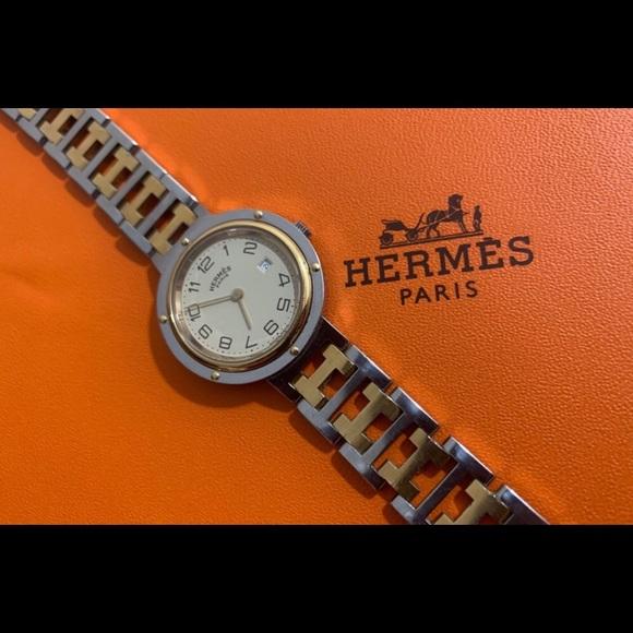 Authentic Hermès Paris clipper 30mm wrist watch